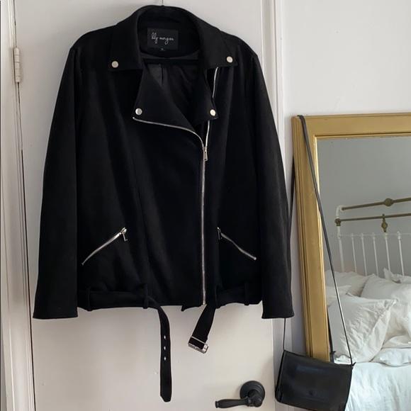Lily Morgan Faux Suede Moto Jacket